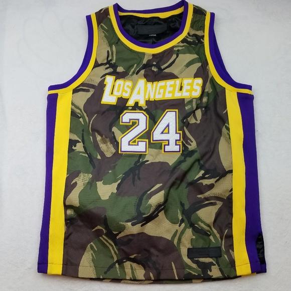 Los Angeles Kobe Bryant Mamba Camo Jersey Large